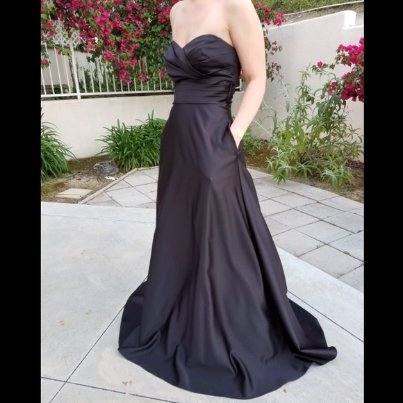 Alfred Angelo Dresses Black Strapless Bridesmaid Dress Poshmark